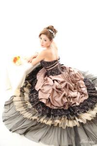 ドレスで可愛く