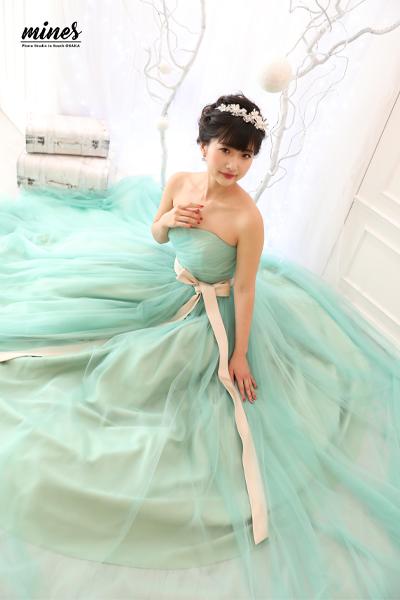 写真だけの成人式ドレスにお着替え