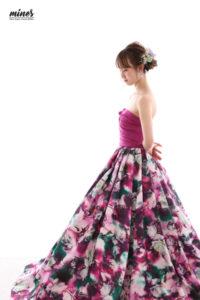 写真で成人式ドレス