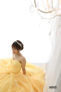 フォトマインズなかもず本店黄色ドレス