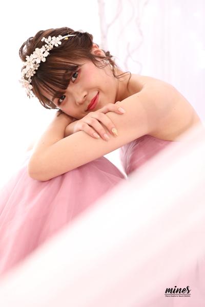 フォトマインズ泉佐野店ピンクドレス